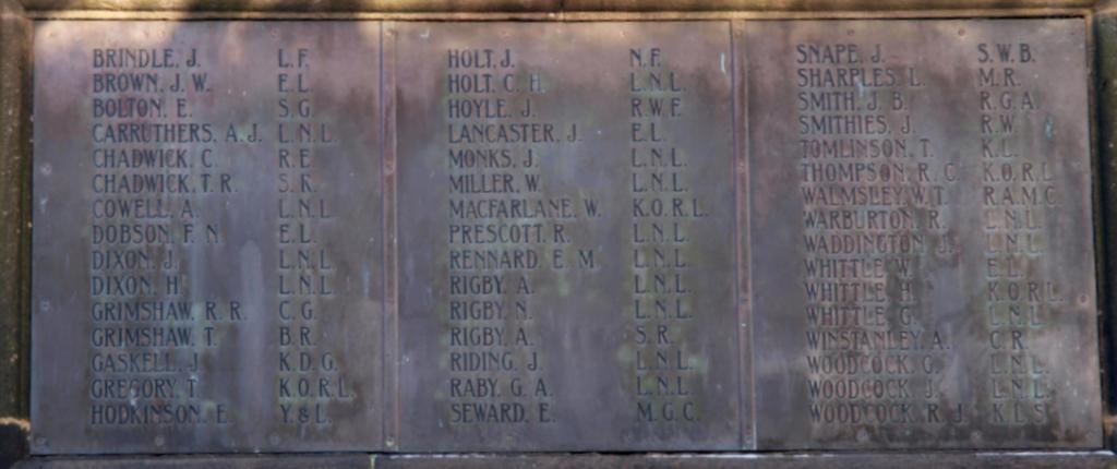 War Memorial Wheelton